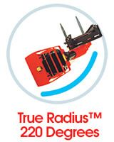 True Radius 220 Degrees